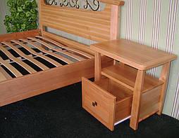 """Деревянная кровать """"Фантазия-2"""". Массив дерева - ольха, покрытие - """"лак"""". 3"""