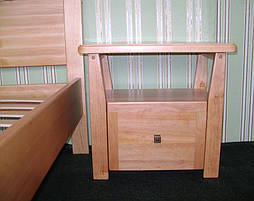 """Деревянная кровать """"Фантазия-2"""". Массив дерева - ольха, покрытие - """"лак"""". 77"""