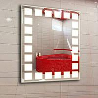 Зеркало с LED подсветкой 600х800мм d9 (настенное зеркало) Лед