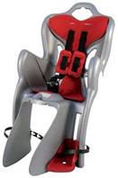 Кресло детское велосипедное Bellelli B1 Clamp до 22кг (серый с красным) крепится на багажник