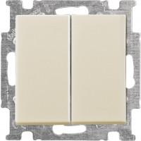 Выключатель проходной 2-клавишный, слоновая кость - Abb Basic 55