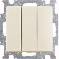 Выключатель 3-клавишный, слоновая кость - Abb Basic 55