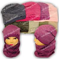 Комплект - шапка и шарф для девочки, A800F, Grans (Польша), утеплитель флис