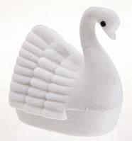"Футляр для кольца из бархата ""Лебедь белый"""