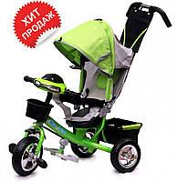 Детский трехколесный велосипед Baby trike CT-59-2 на пене, зеленый