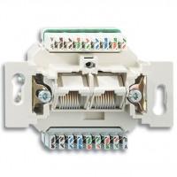Механізм комп'ютерної розетки RJ45 кат.5e, неекранована, 2-гнізда - ABB Busch-Jaeger Elektro