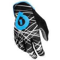 Перчатки 661 REV GLOVE WIRED BLK/CYAN длинный палец L (10) 2012
