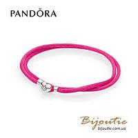 Pandora текстильный браслет MOMENTS #590749CPH-S серебро 925 Пандора оригинал
