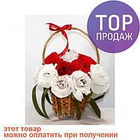 Букет из конфет Гвоздика в корзинке / оригинальный подарок