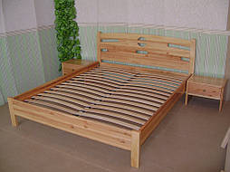 """Кровать """"Сакура-2"""". Массив дерева - ольха, покрытие - """"лак"""". 1"""