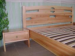 """Кровать """"Сакура-2"""". Массив дерева - ольха, покрытие - """"лак"""". 2"""