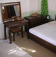 """Спальный гарнитур """"Сакура"""". Массив дерева - ольха, покрытие - """"лесной орех"""" (№ 44). 79"""