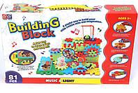 Музыкально-световой конструктор Билдинг блок на 81 деталь, развивающий конструктор Building Block, фото 1
