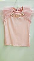 Детская школьная трикотажная блузка для девочки 98-140