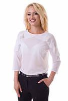 Белая шифоновая блуза