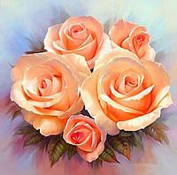 Алмазная вышивка Коралловые розы 30 х 30 см (арт. FS594), фото 1