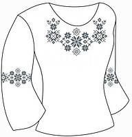 Заготовка для вишивки бісером/нитками дитячої сорочки на тканині ГАБАРДИН