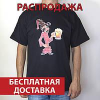 Футболка мужская Козак Око з кухелем, черная 100% хлопок