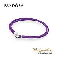 Pandora текстильный браслет MOMENTS #590749CPE-S серебро 925 Пандора оригинал