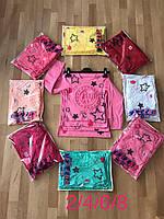 Реглан для девочки с выбитым по ткани рисунком Париж красный,желтый,голубой, малиновый, розовый, св розовый