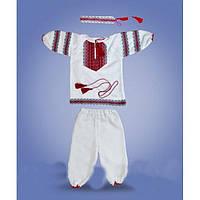Костюм для крестин с вышивкой для девочки.