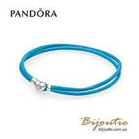Pandora текстильный браслет MOMENTS #590749CTQ-S серебро 925 Пандора оригинал
