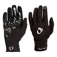 Перчатки зимние женские Pearl Izumi THERMAL CONDUCTIVE, длинные пальцы, черные, размер L