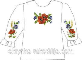 Заготовка для вишивання дитячої сорочки нитками або бісером на НАТУРАЛЬНІЙ тканині