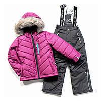 Зимний термокостюм для девочки NANO от 1 до 12 лет (куртка и полукомбинезон), р. 80-152 ТМ Nanö Mauve Rose F17 M 268
