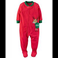 Человечек флисовый Carters для мальчика новогодний олень, Размер 5T, Размер 5T