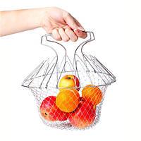 Универсальная складная решетка Шеф Баскет (Chef Basket) – оригинальное решение проблем на Вашей кухне!