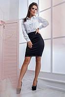 Белая летняя женская  рубашка классика