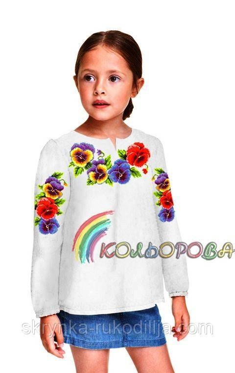 Заготовка дитячої блузки для вишивки хрестиком бісером на тканині ГАБАРДИН  - СКРИНЬКА. Товари для 409e1c8fe643c
