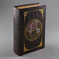 """Книга-шкатулка  """"Глобус"""" подарок на день рождения коллеге"""