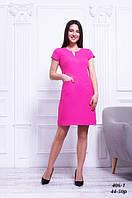 Платье малиновое стройнящее льняное, 44-50 р