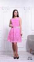 Платье женское розовое из прошвы, 42-48 р
