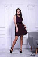 Платье бордовое шифоновое женское, 42-48 р