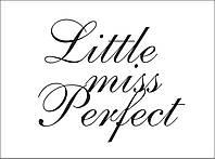 Готовая надпись на термотрансферной пленке - little miss perfect