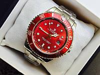 Наручные часы Rolex серебро с красным 80720174 (копия)