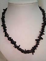 Бусы натуральные черный агат