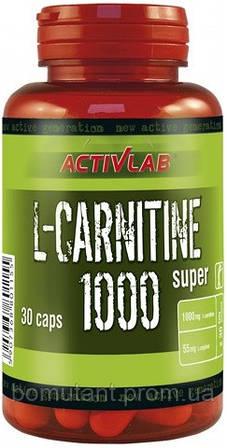 L-Carnitine 1000 30 капсул Activlab