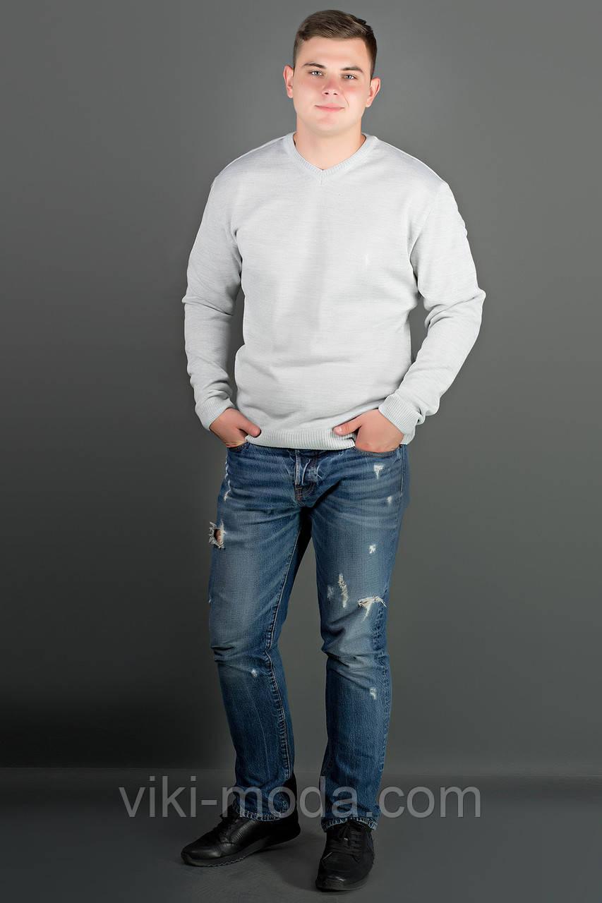 Мужской свитер Никки (белый) тонкий мысик
