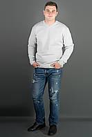 Мужской свитер Никки (белый) тонкий мысик, фото 1