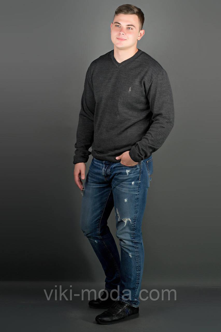 Мужской свитер Никки (черный) тонкий мысик