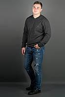 Мужской свитер Никки (черный) тонкий мысик, фото 1