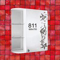 "Зеркальный шкафчик (зеркало шкаф) для ванной комнаты м""811"""