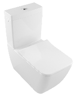 VENTICELLO унитаз компакт 375*700мм, Rimfree, напольный, гор выпуск, цвет White Alpin CeramicPlus