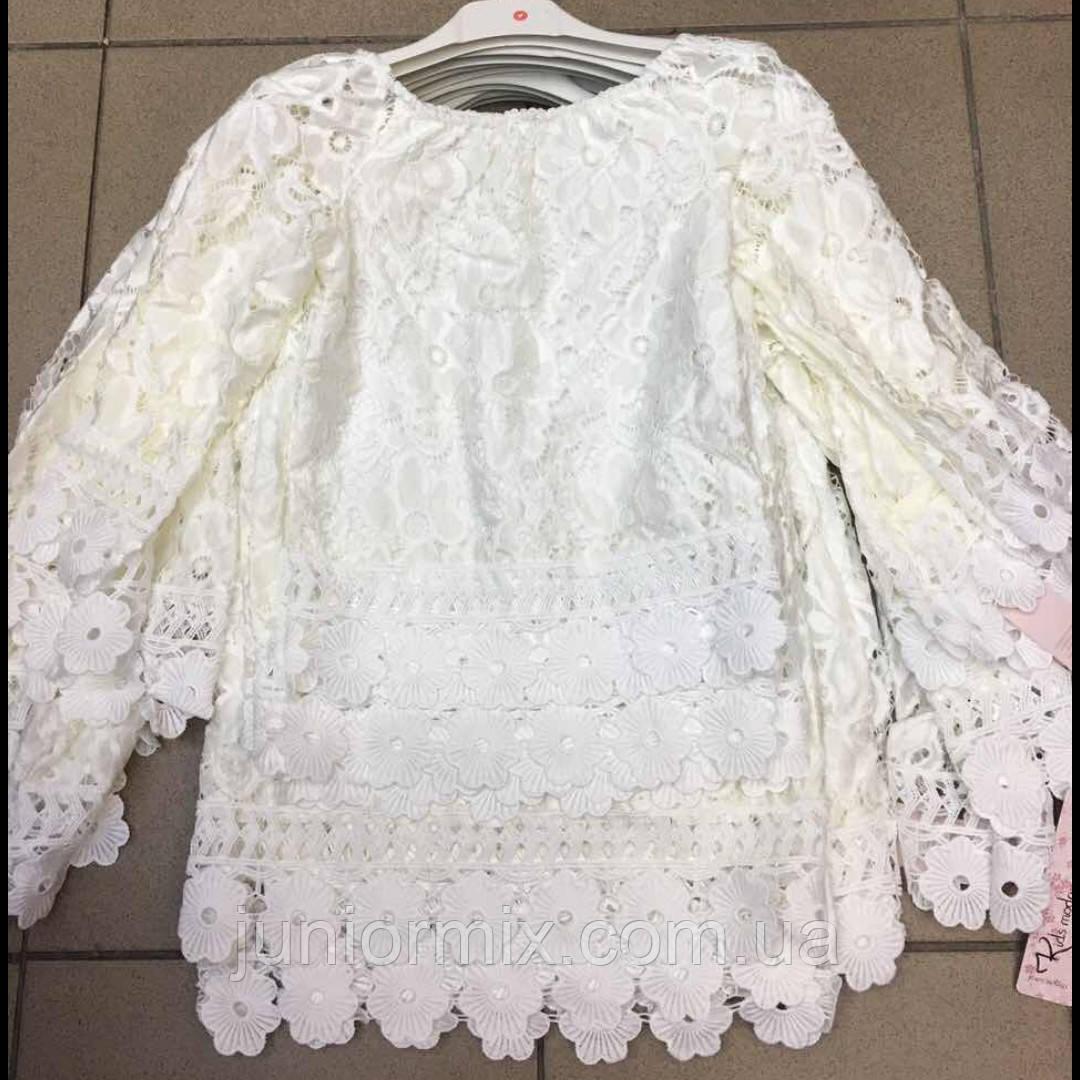 Гипюровая блузка для девочек оптом Kids moda