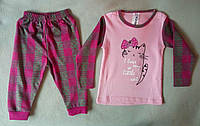 Детская пижама для девочек 1-3 года интерлок Турция оптом
