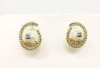 Серьги круглые Chanel с жемчужинами